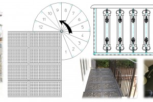 Creo Elements Direct Drafting customised for Spiral Staircase Design